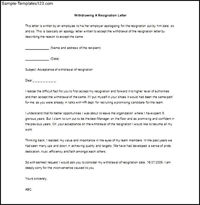 Resignation Letter Sample Word Doc Download Templates Sales