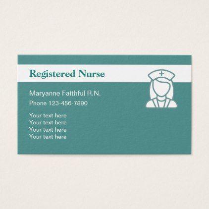 Pink black registered nurse business cards registered nurse registered nurse modern design business card nursing nurse nurses medical diy cyo personalize gift idea colourmoves