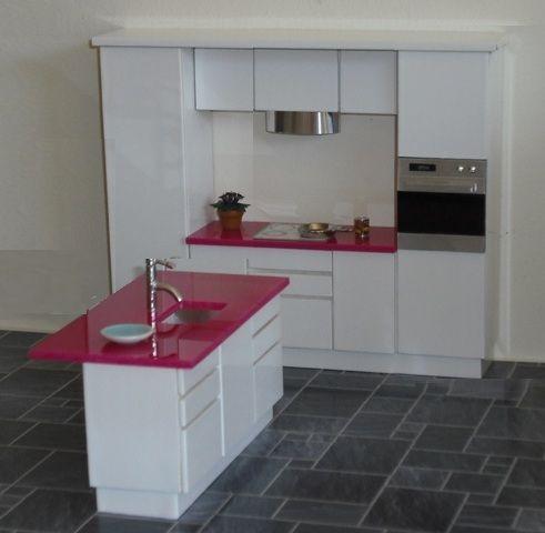 1:16 ELF Kitchen In White Gloss | ELF Miniatures · Modern DollhouseDiy DollhouseDollhouse  FurnitureDollhouse ...
