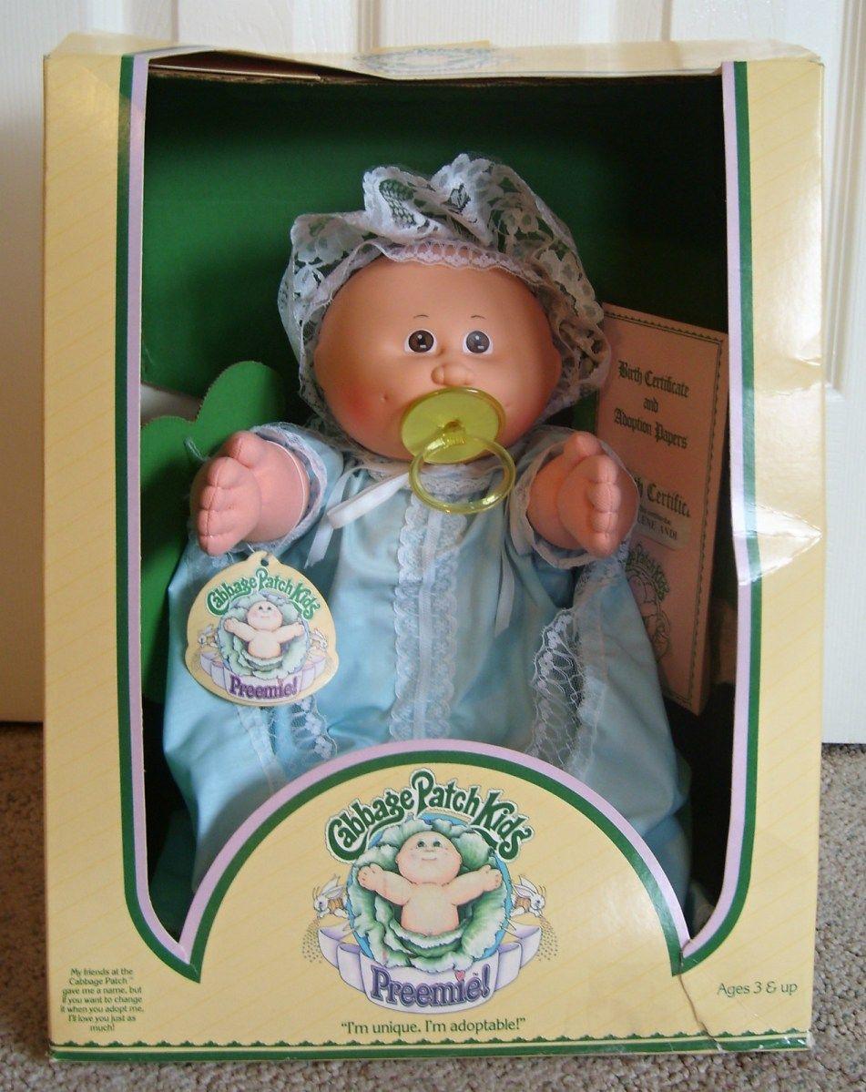 1985 Cabbage Patch Kids Bald Paci Preemie Girl Brown Eyes Gown Cabbage Patch Kids Dolls Cabbage Patch Dolls Cabbage Patch Kids