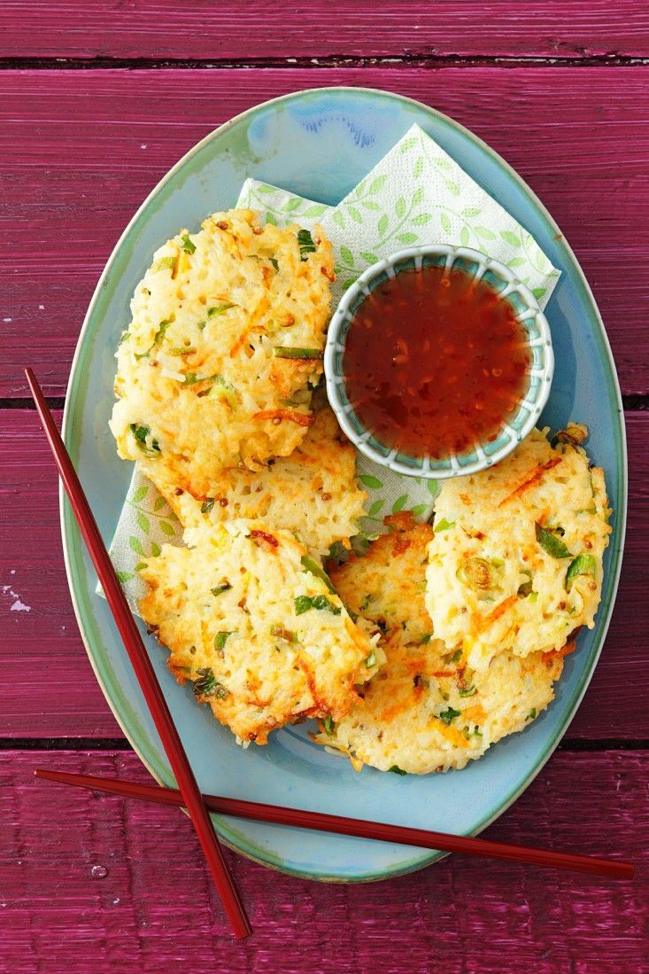 Photo of Rice patties with spring onions