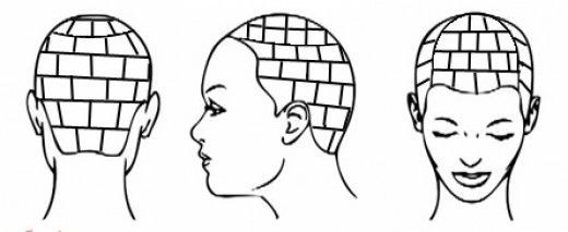23++ Bricklayer parting box braid parting pattern inspirations