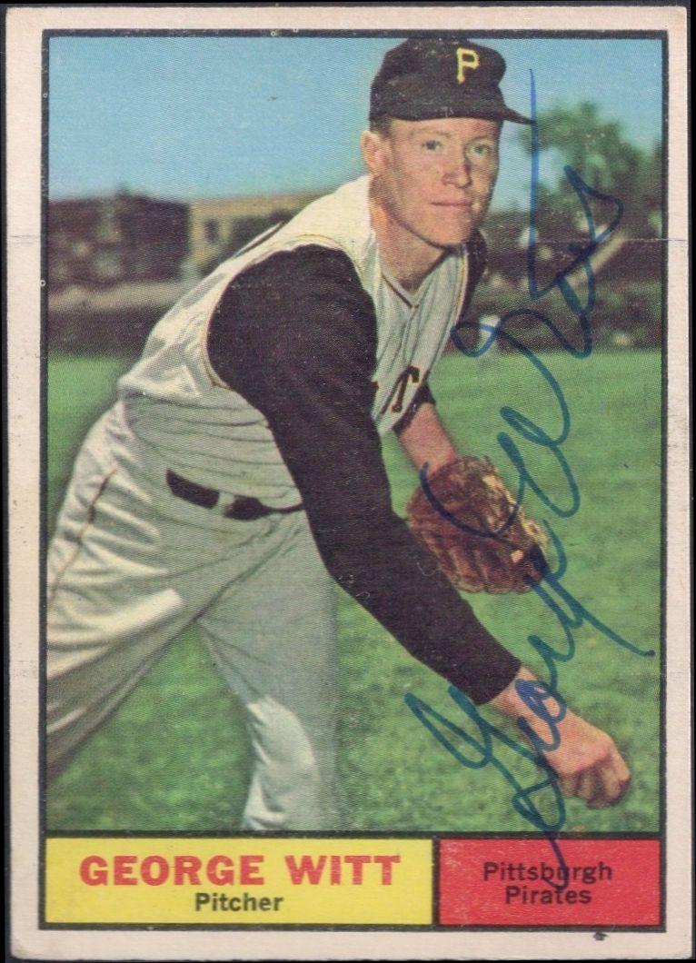 1961 topps witt autograph baseball cards