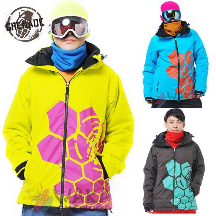 Waka Outdoor Grenade Men Snowboard Jacket Winter Ski Suit Men ...