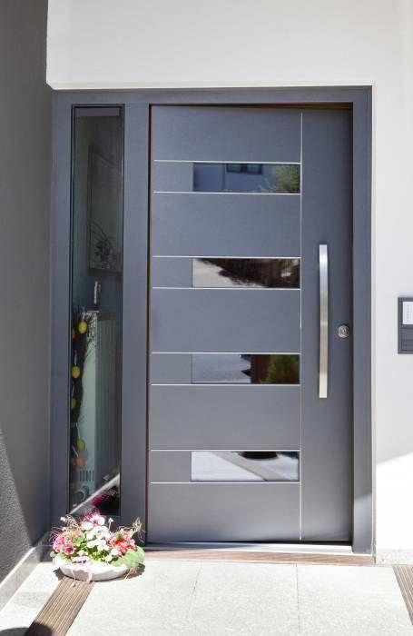 19 Puertas principales de aluminio modernas