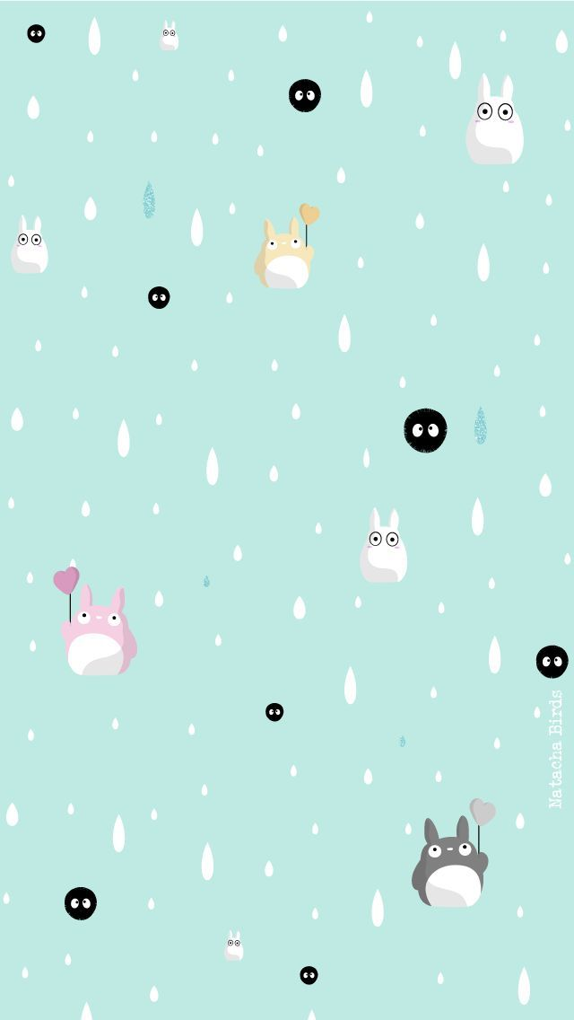 Phone & Celular Wallpaper Totoro_IP5_Accueil_BLEU
