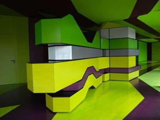 Gradation In Interior Design green-yellow-gradation-interior-design-by-mayer-architecture | idd