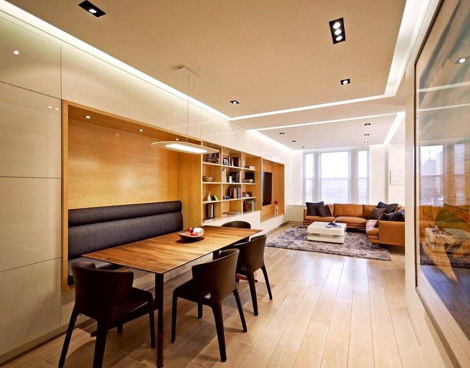 Living Room Rectangle Dining Combo With Design Also Hardwood
