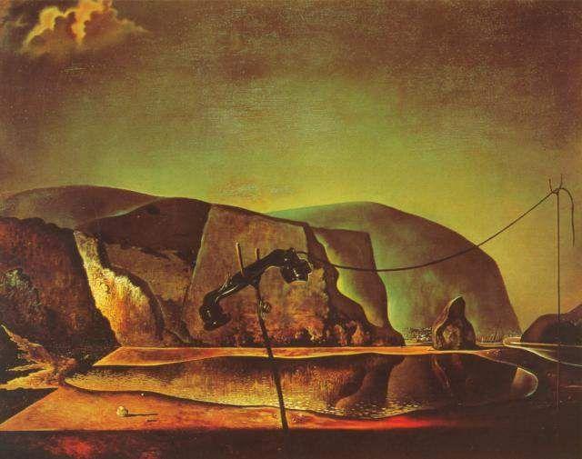 Souvent Salvador Dali >> Plage avec téléphone, 1938 | (huile, reproduction  BU37