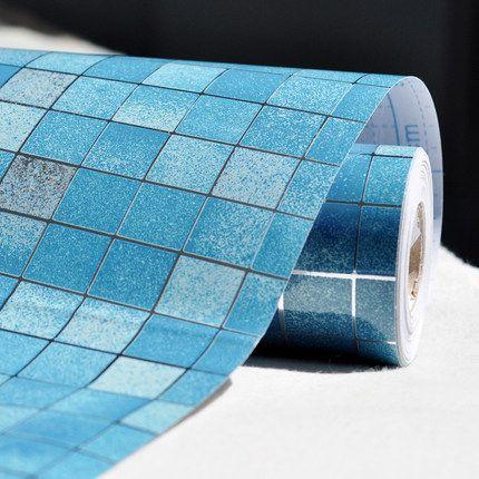 0 45x1m Vinyl Self Adhesive Film Pvc Mosaic Wallpaper Bathroom Kitchen Waterproof Tile Sticker Oilproof Wall Wall Stickers Mosaic Wallpaper Cheap Wall Stickers