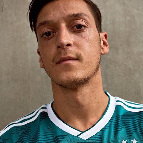Mesut Zil Models Germanys 2018 World Cup Away Kit Adidas Germany