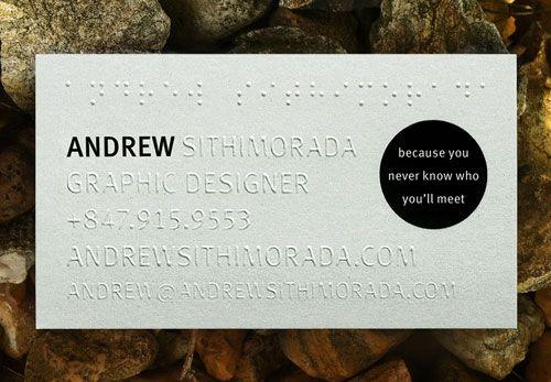 Andrew Sithimorada Business Card Business Card Inspiration Embossed Business Cards Elegant Business Cards Design