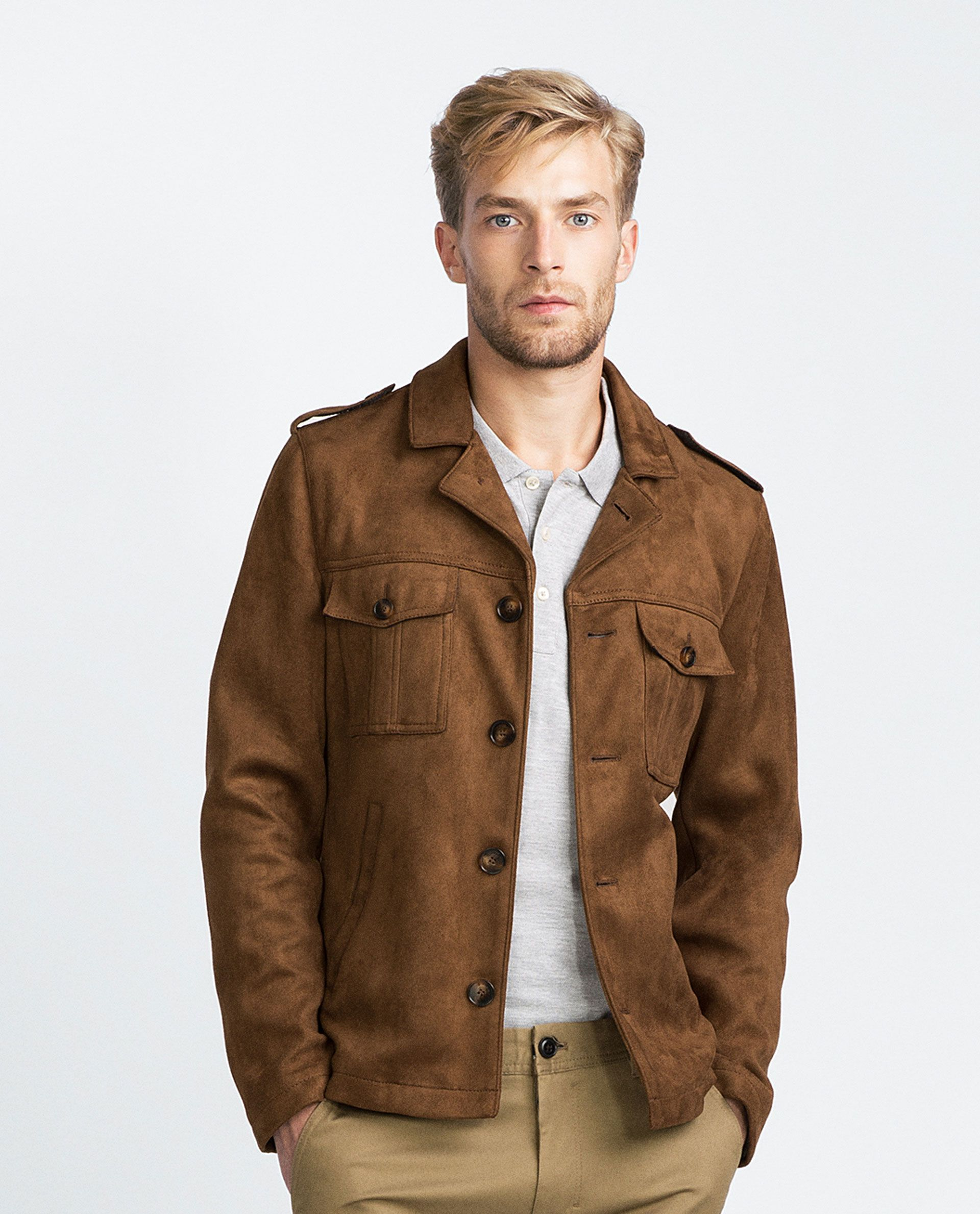 Faux Suede Overshirt View All Jackets Man Mens Jackets Men Casual Mens Fashion Casual