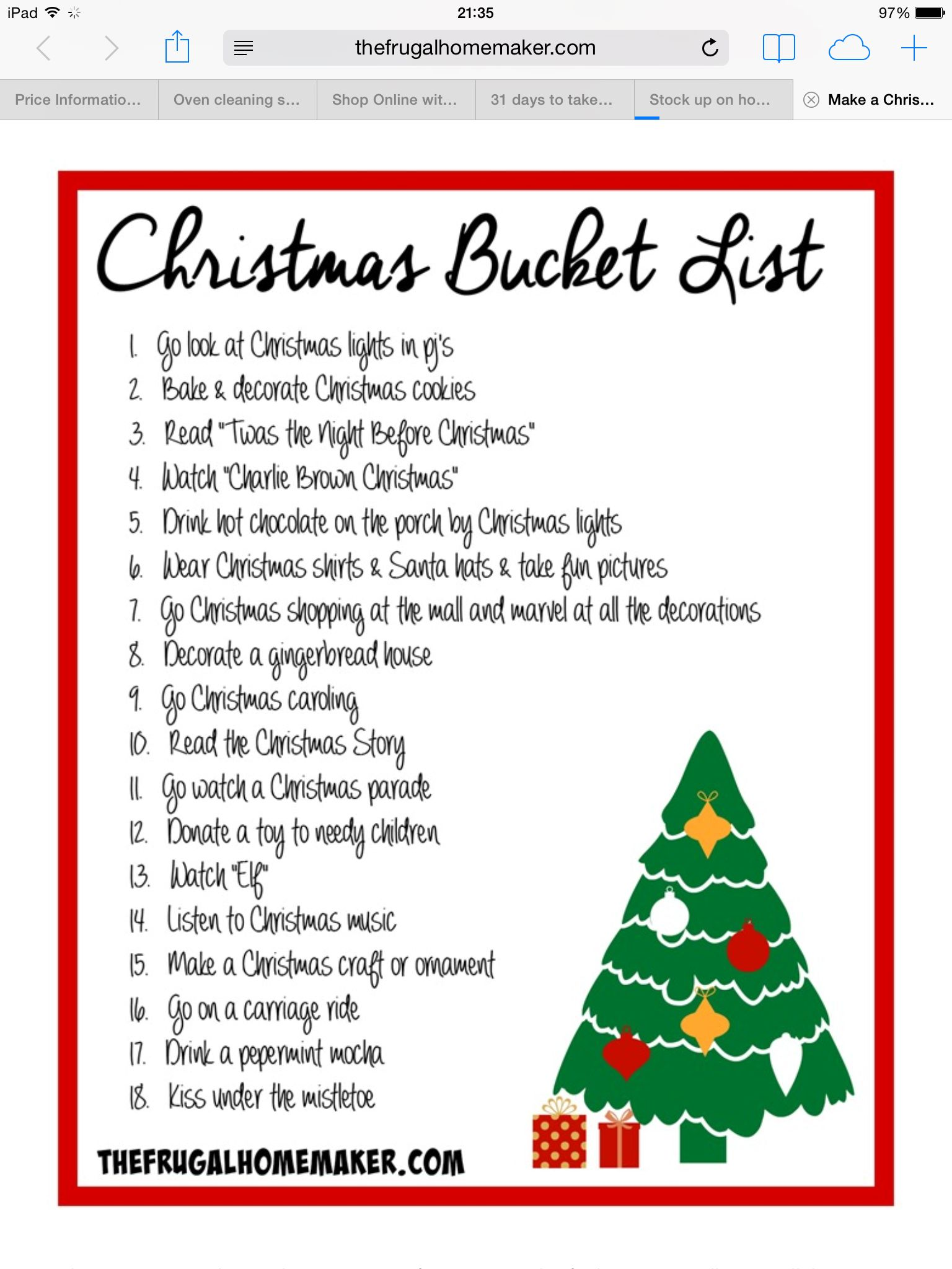 i need to make a christmas bucket list for this year christmas bucket list 2014 create memories not stress this christmas make a christmas bucket list - Christmas Lists 2014