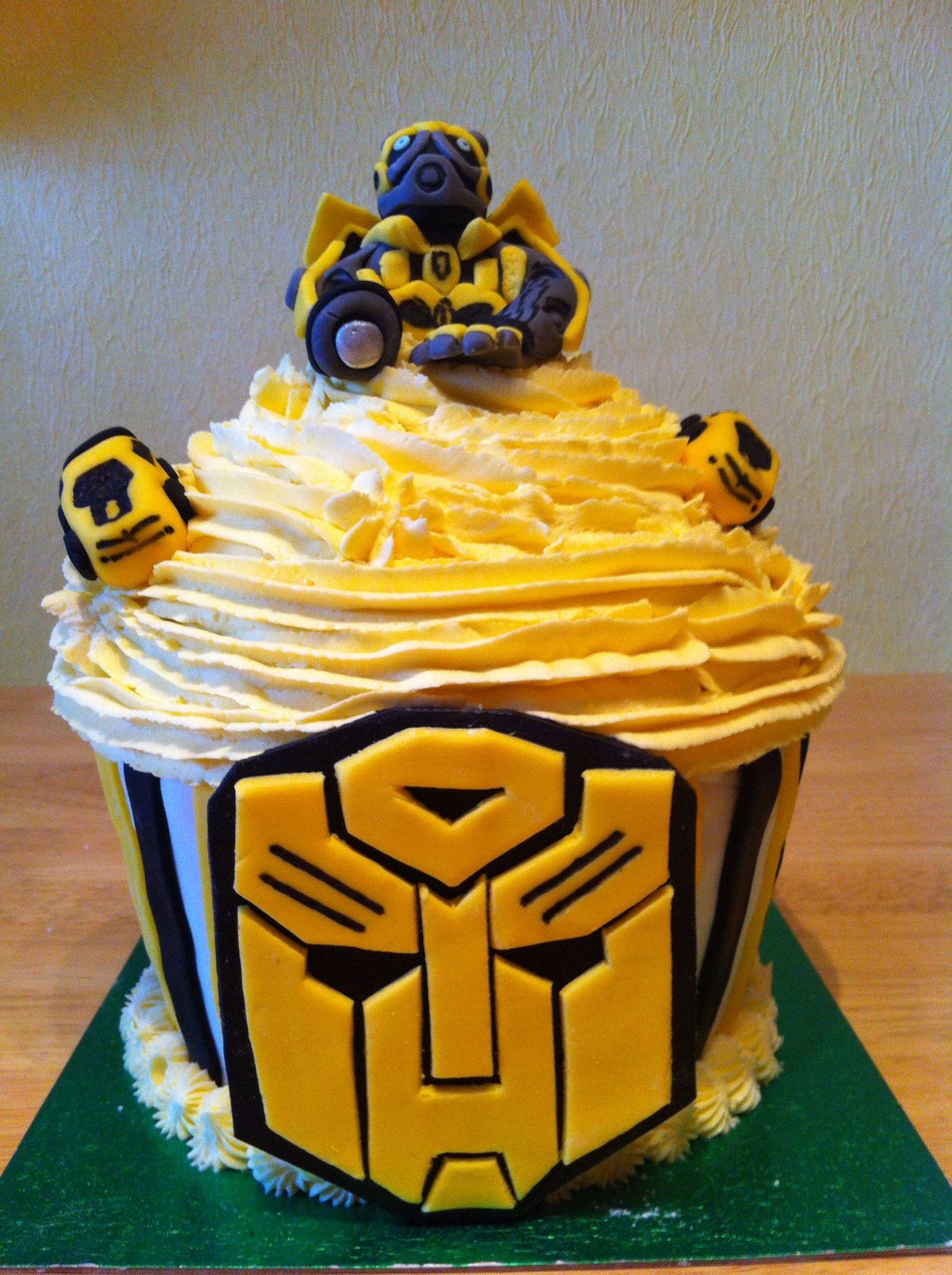 Giant Bumblebee Transformer Cupcake
