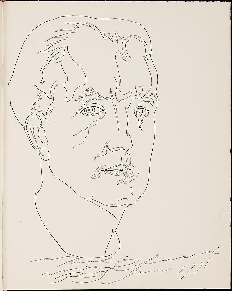 Portrait de Paul Éluard par Man Ray