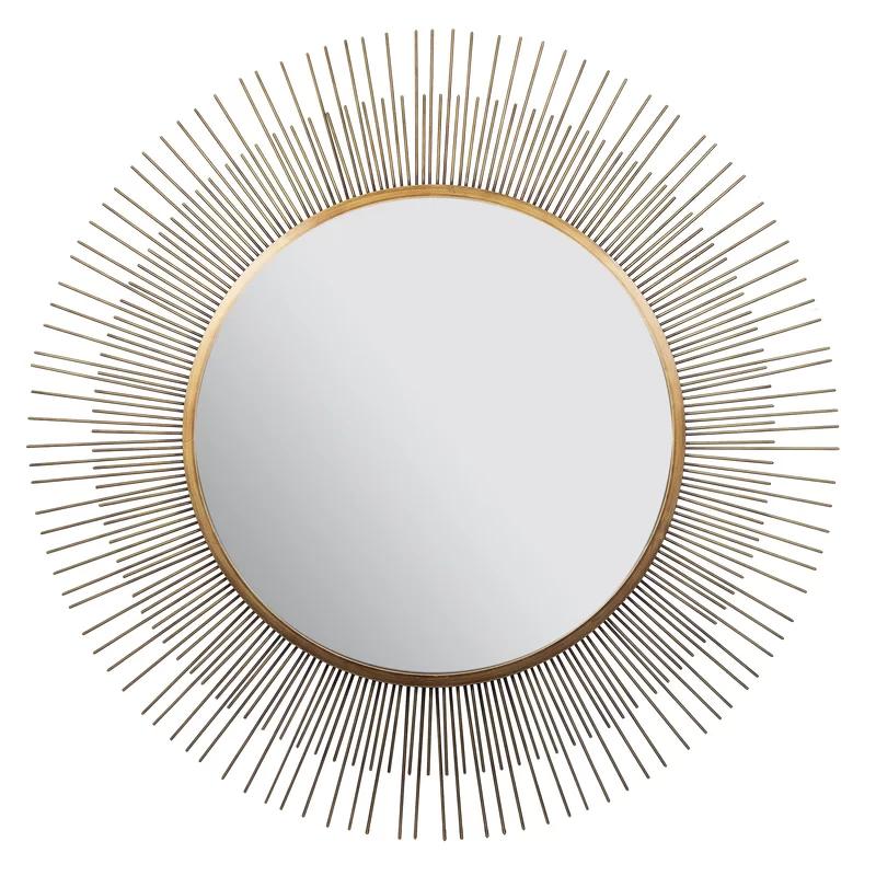 Zowie Sunburst Accent Mirror Gold Sunburst Mirror Gold Sunburst Mirror Wall
