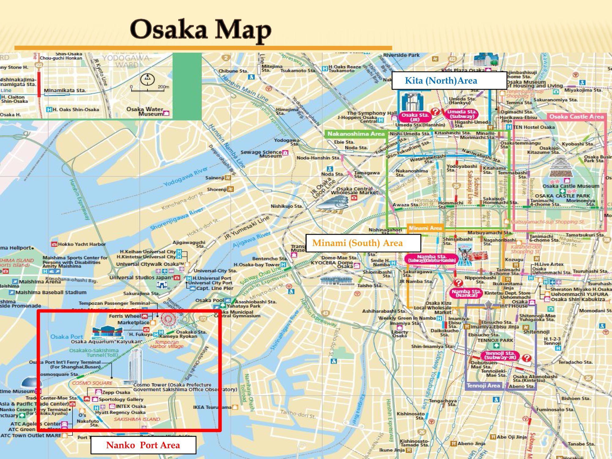 Map of Osaka Japan trip Pinterest Osaka Japan and Osaka japan