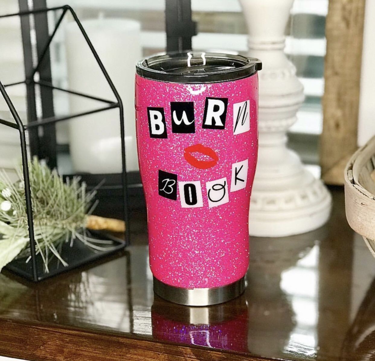 The Burn Book Mean Girls Glitter Stainless Steel Tumbler Cups Girls Tumbler Mean Girls Girls Cup