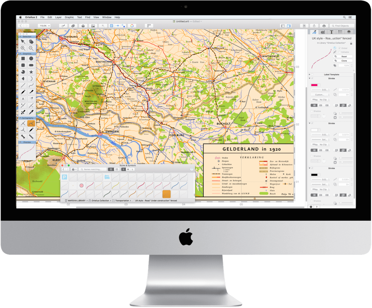 Ortelius 2 On An Imac Mapdiva Com Map Design Software Design Mapping Software