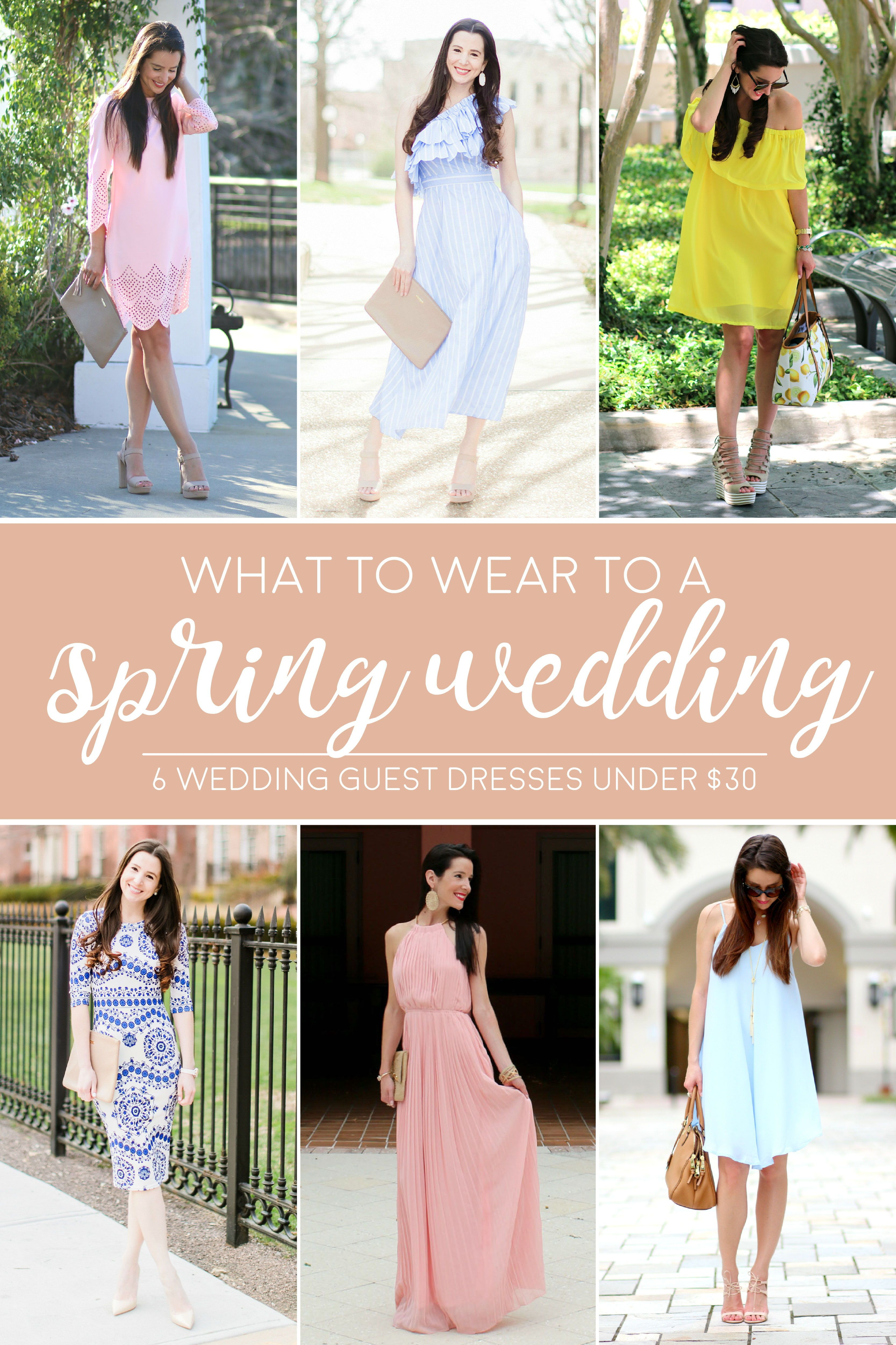 Wedding attendee dresses  Best Dresses to Wear to a Spring Wedding