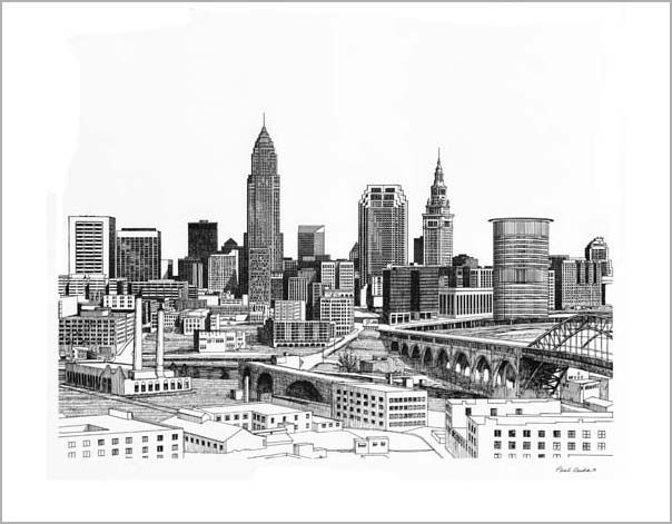 Paul duda cleveland ink 604 471 pixels wedding for Cleveland skyline tattoo