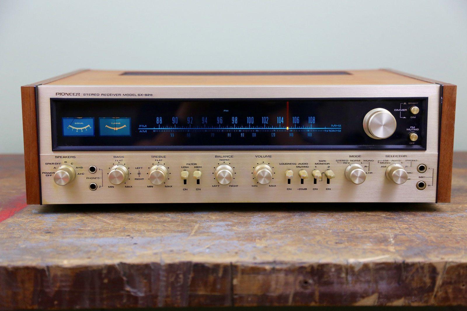 Vintage 1970s Pioneer Sx 828 Stereo Receiver Tuner Hifi W Speaker Diagram Further Dj Speakers On Wiring A Guitar Jack Plugs Japan Ebay