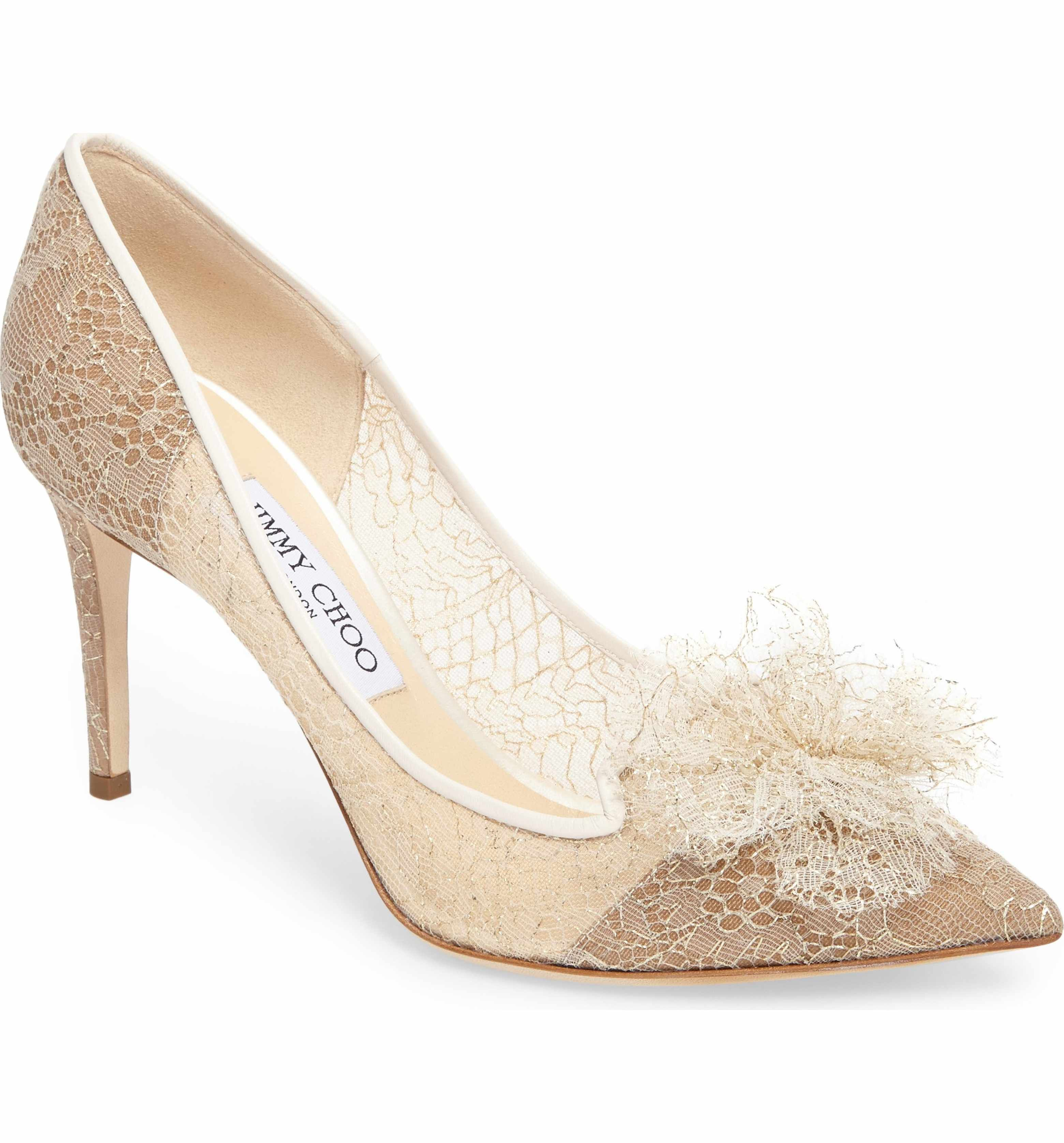 Main Image Jimmy Choo Estelle Chantilly Tulle Pump Women Women S Pumps Jimmy Choo Special Occasion Shoes