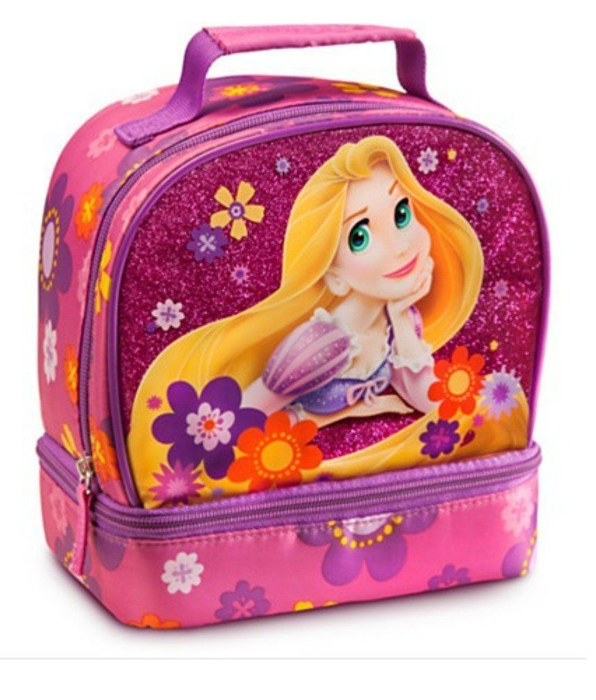 a9d4affbf7b Disney Tangled Lunch Bag Princess Rapunzel dual compartment