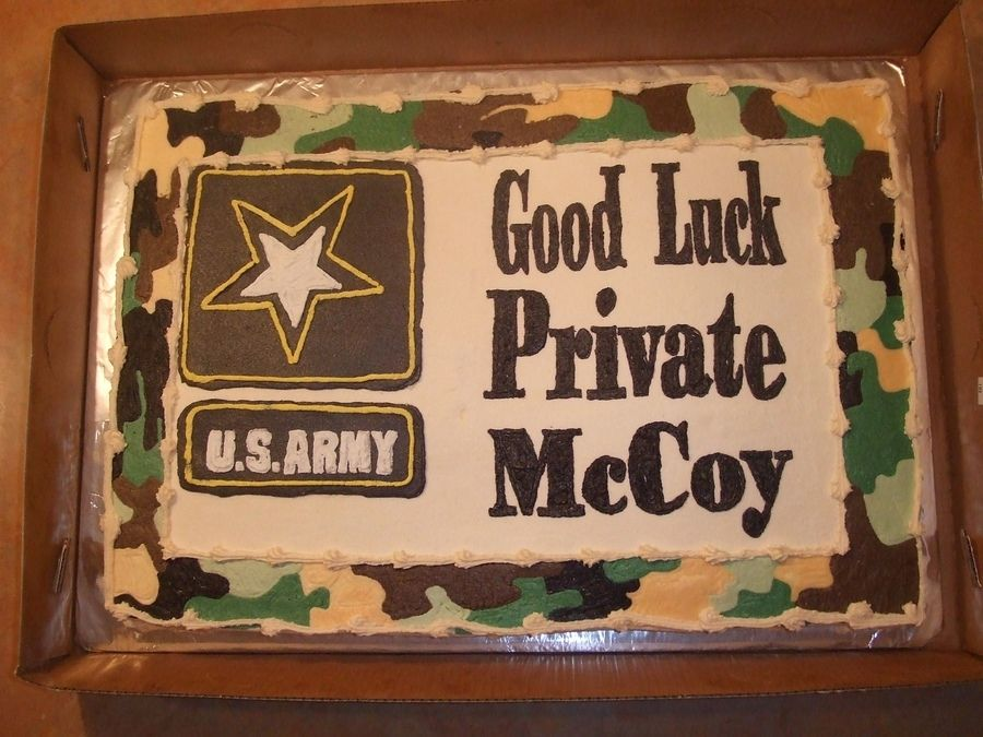 Going Away Cake With Images Military Send Off Party Ideas