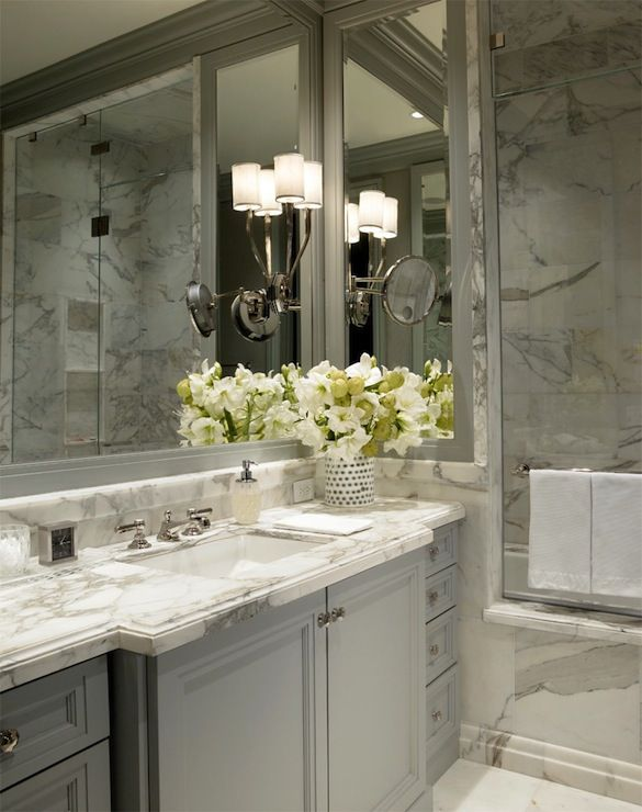 Die besten 25 grauem marmor badezimmer ideen auf pinterest marmorb der graue fliesen und - Marmor badezimmer ...