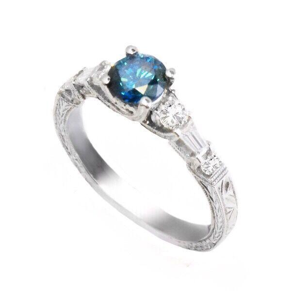 Blue Diamond Engagement Rings For Women 13 In 2019 Wedding Rings