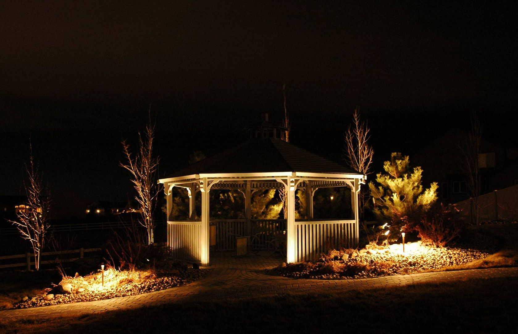 outdoor home lighting ideas. Romantic Outdoor Gazebo Lights Ideas Home Lighting Design As Well Outside And Solar Yard C