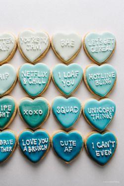 sweetoothgirl:    Conversation Heart Sugar Cookies