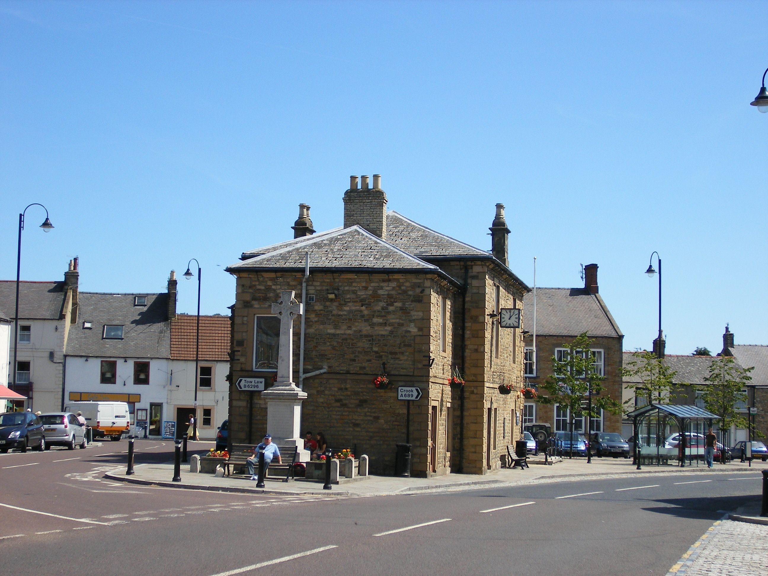 Wolsingham Market Place War Memorial And Town Hall Now Library