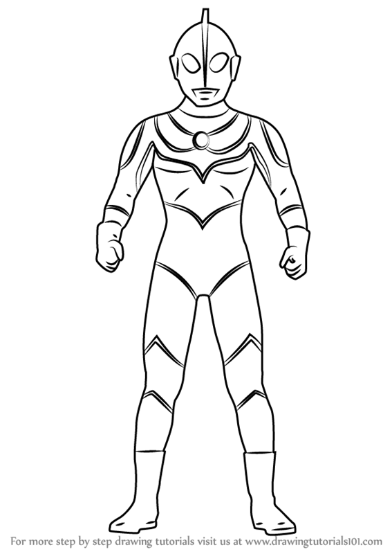 Learn How To Draw Ultraman Jack Ultraman Step By Step Drawing Tutorials Drawings Drawing Tutorial Coloring Pages To Print