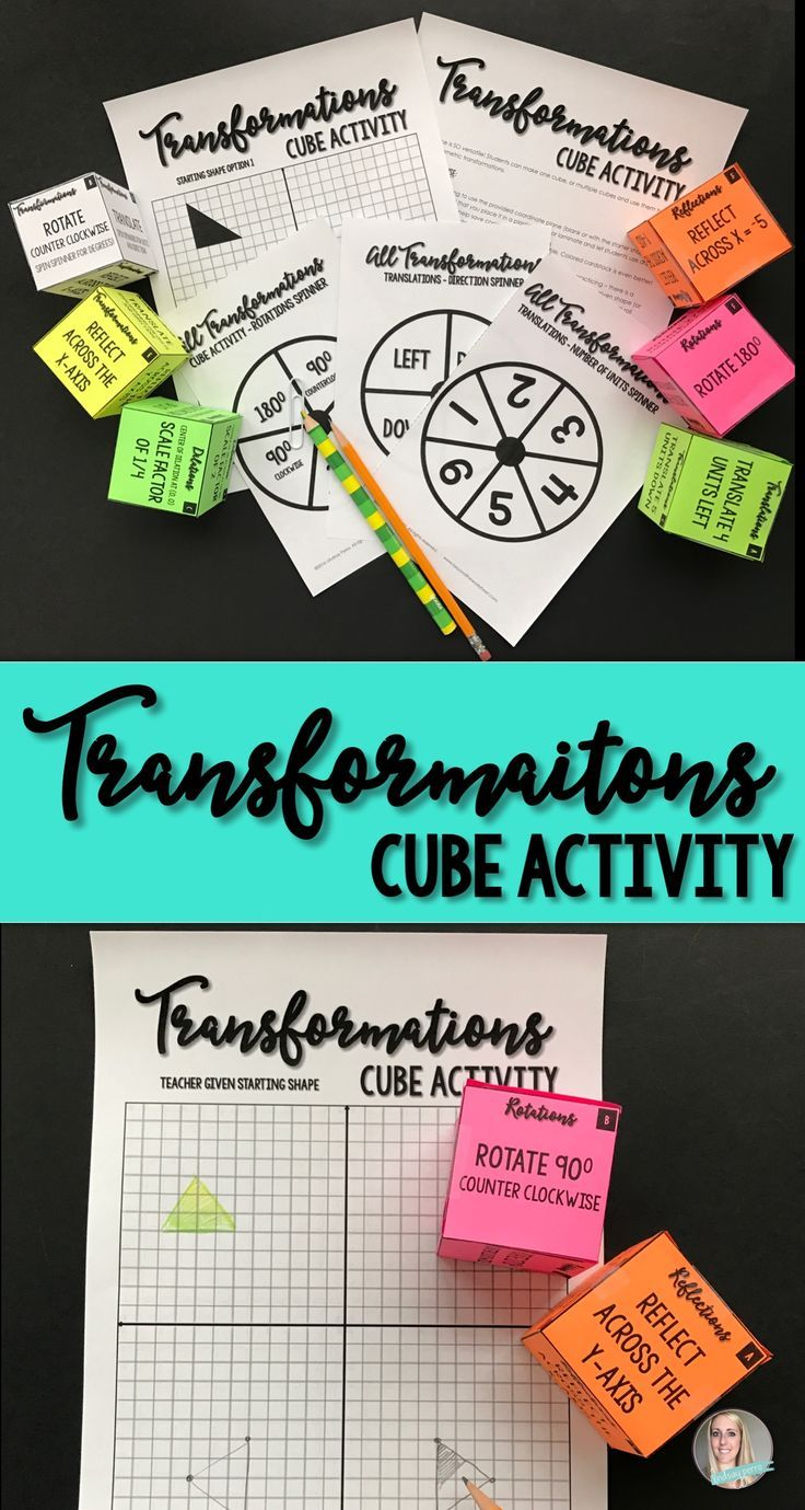 Geometric Transformations Cube Activity | Geometric transformations ...