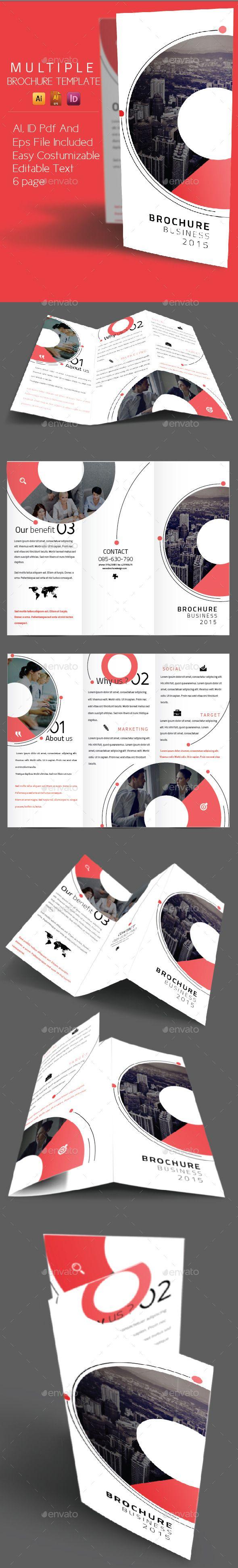 multiple circle brochure template brochure template brochures and template