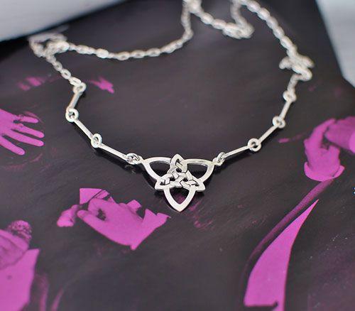 Celtic Trinity Silver Pendant Necklace