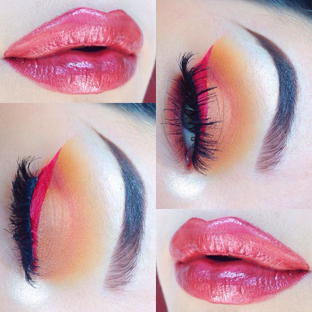 Stunning Look With Kat Von D Eye Shadows and Liquid Lipstick and Who Is She Cosmetics' 'Apple Cider' Lip Hybrid!