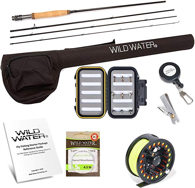 Amazon Com Wild Water Fly Fishing Rod And Reel Combo Complete 5 6 Starter Package Sports Outdoors Wild Waters Fishing Rod Fly Fishing Rods