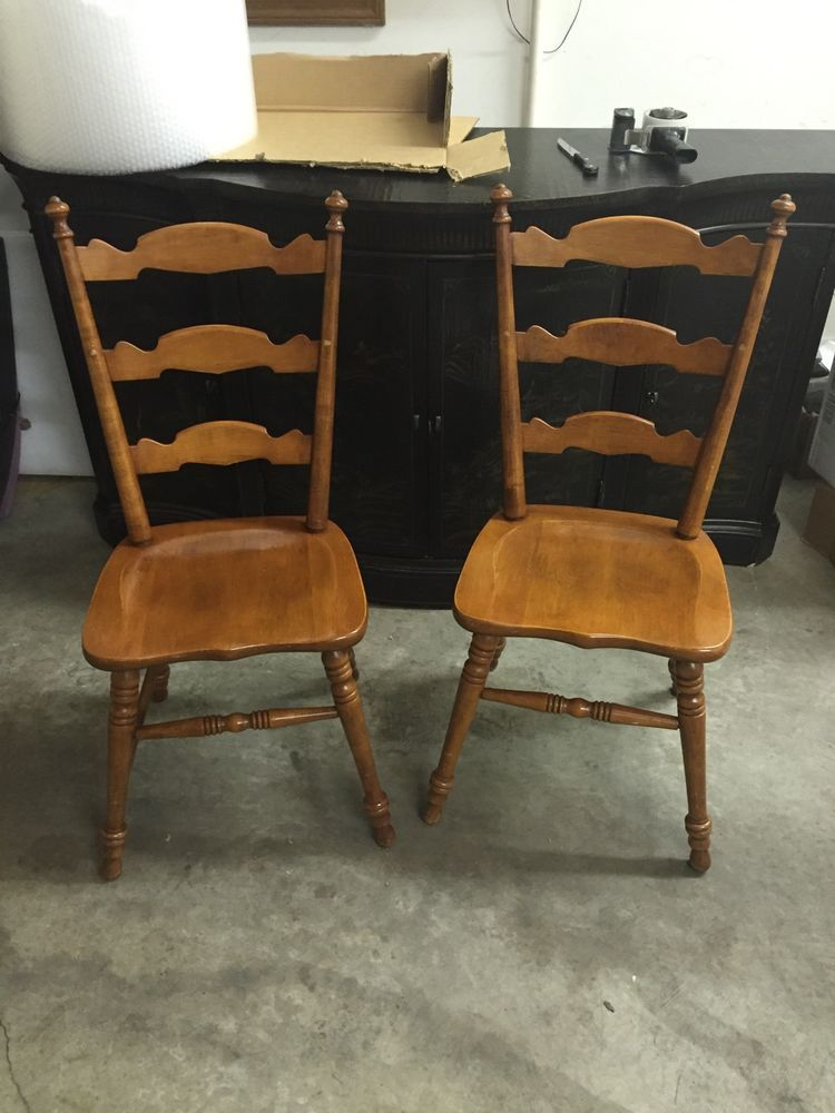 tell city chair company solid hard rock maple andover side chairs