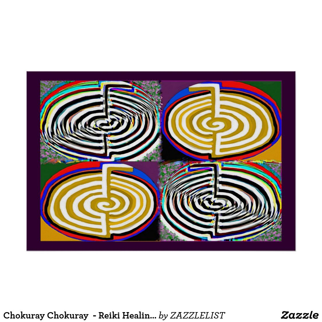 Chokuray chokuray reiki healing symbol poster 101 zazzle pro chokuray chokuray reiki healing symbol poster biocorpaavc