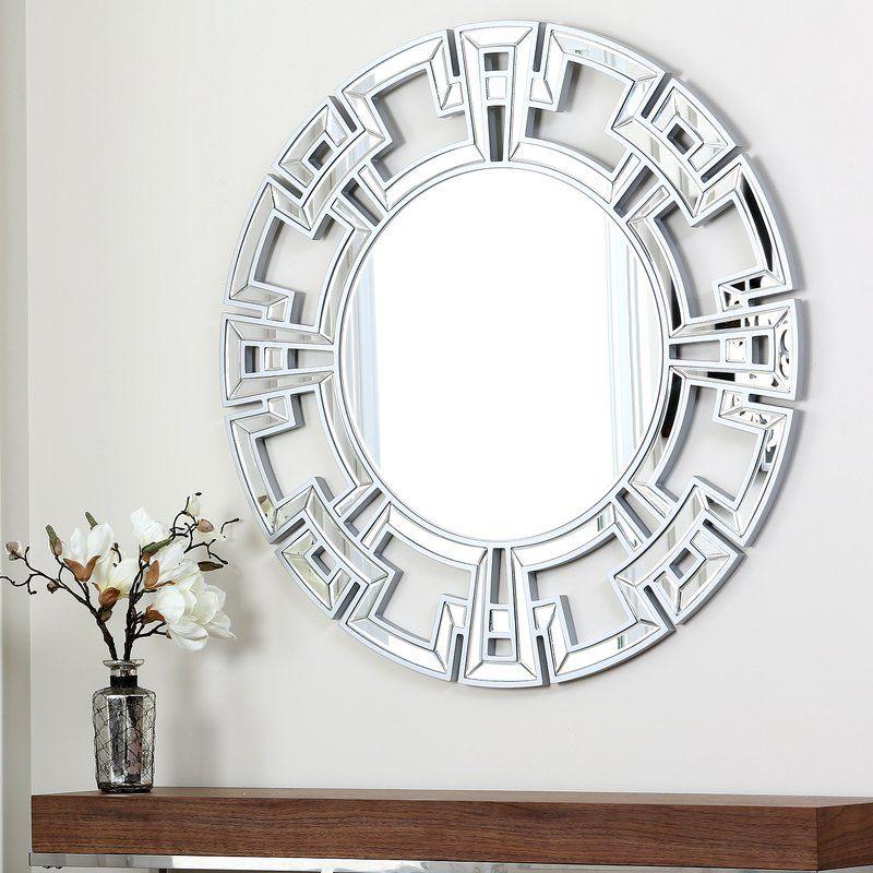 Tata Openwork Round Wall Mirror Round Wall Mirror Silver Wall