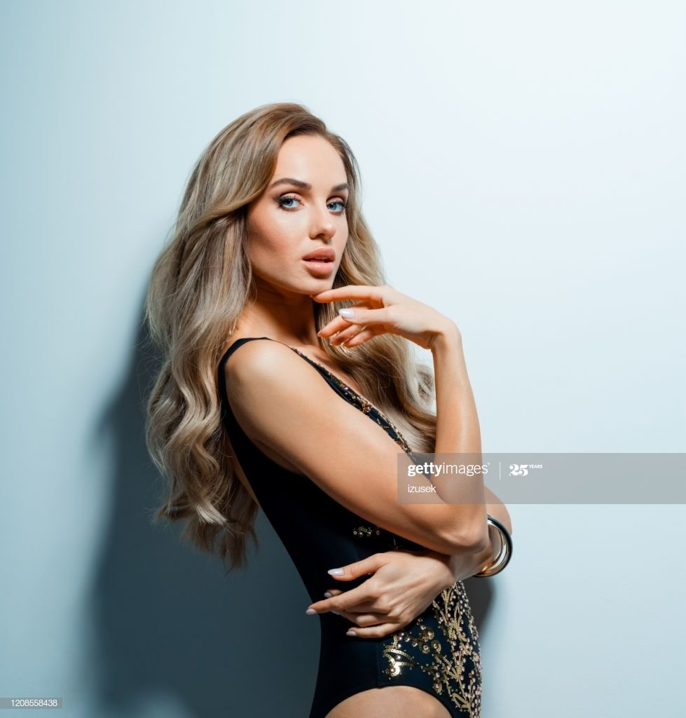 Glamour Portrait Of Beautiful Woman In Elegant Swimsuit Photography #Ad, , #Affiliate, #Beautiful, #Portrait, #Glamour,