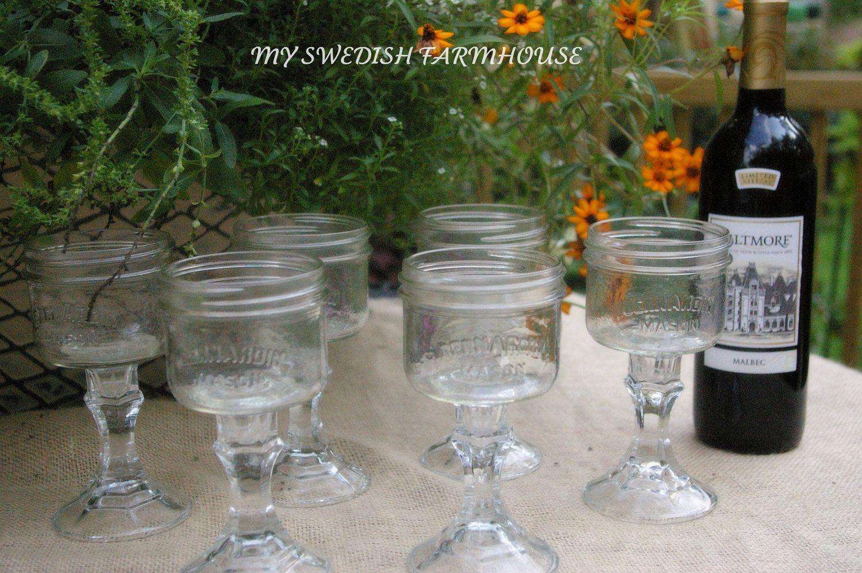 Rustic Wedding Decorations Mason Jars Mason Jar Wine Glasses