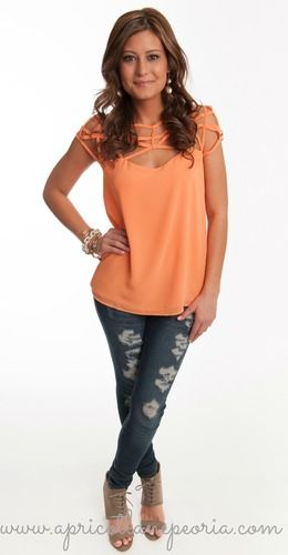 Caged Top Blouse, $39.00