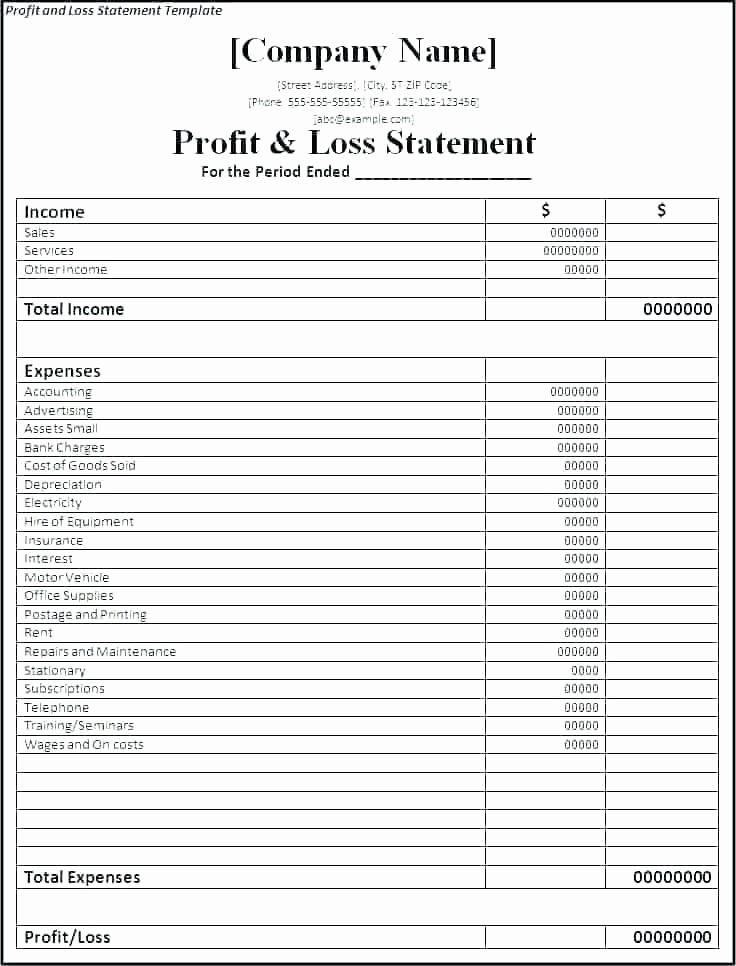 Unique Excel Business Plan Template in 2020 Profit and