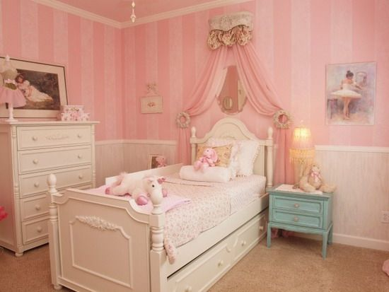 French Themed Girl Bedrooms | Pink Bedroom Theme For Girls Developing A  Personal Hideaway Along With