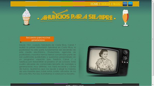 """Ingrese a Teletica.com y vote por su anuncio de televisión """"viejo"""" favorito"""